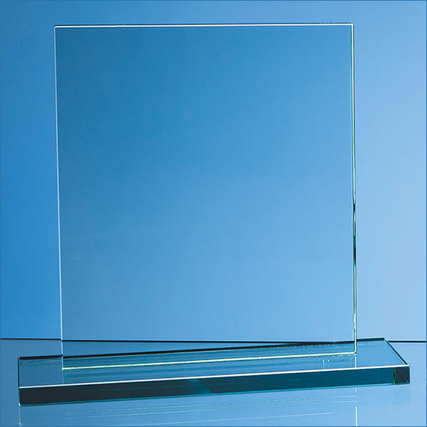 10295: 20cm X 17.5cm X 12mm Jade Glass Rectangle Award