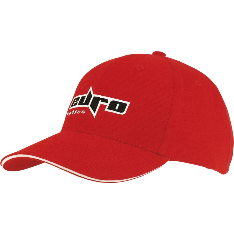 10509: 6 Panel Heavy Brushed Cotton Baseball Cap With Sandwich Trim 4210