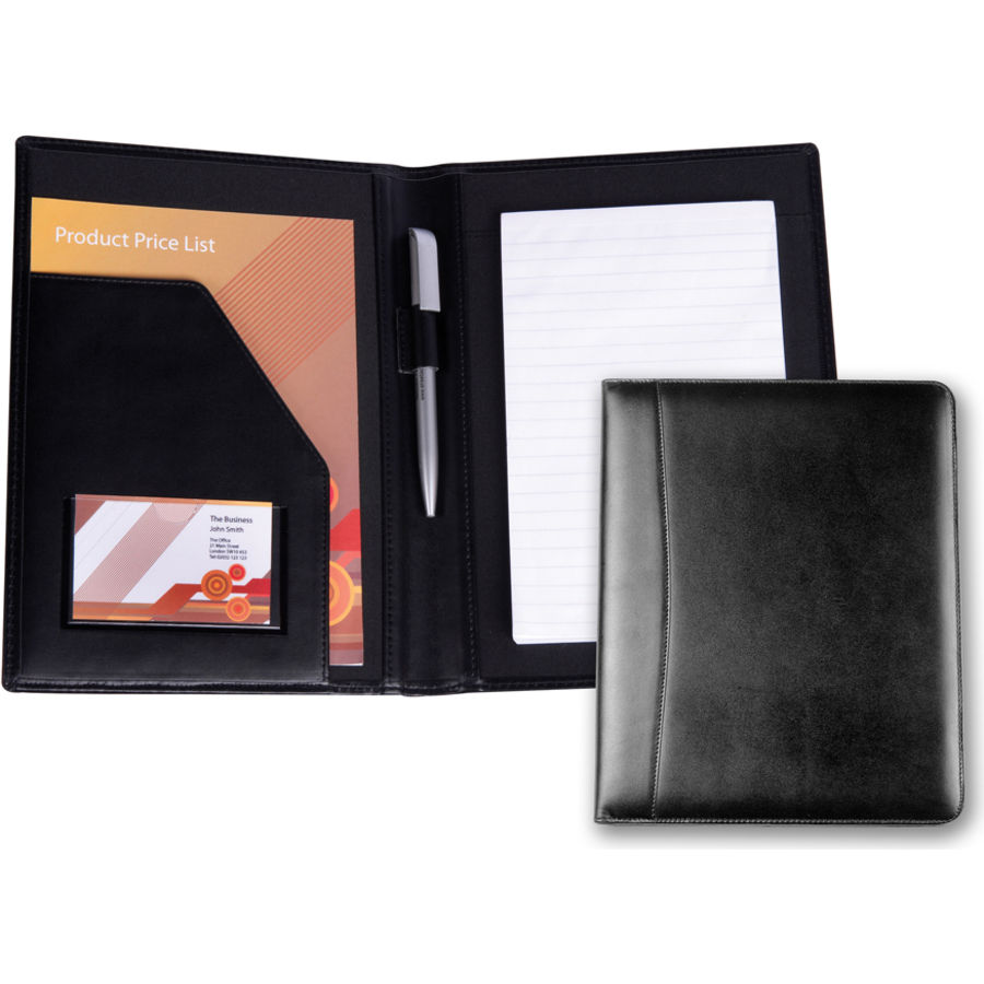 10698: A5 Ascot Leather Conference Folder