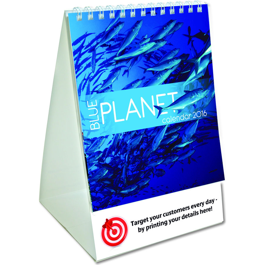 11038: Blue Planet Mini Desk Calendar