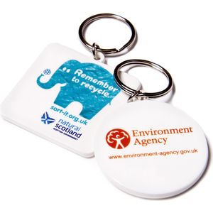 11714: 45mm Keyring - Round or Square - Recycled - UK Made