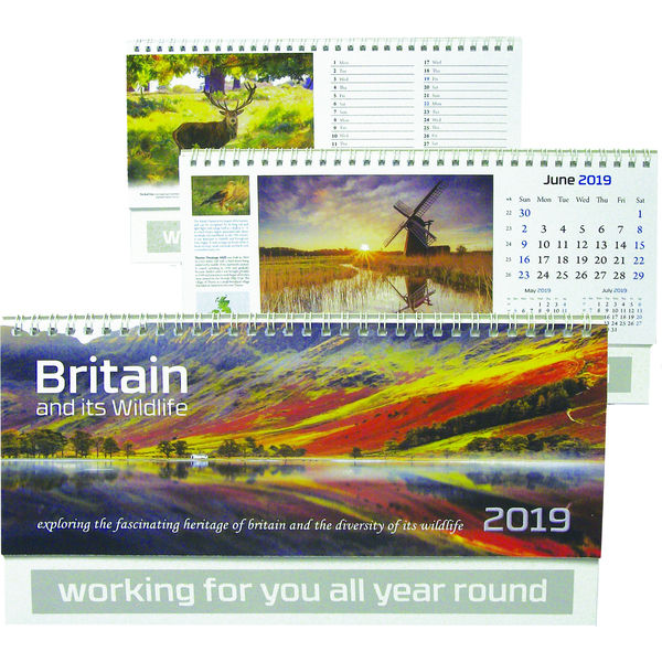 11815: Britain and its Wildlife Desk Calendar