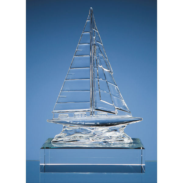 12012: 22.5cm Waterford Crystal Sailing Yacht