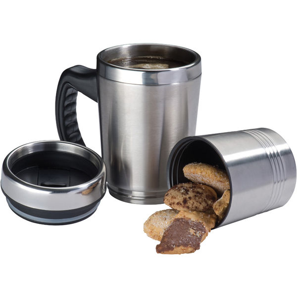 12020: 2-in-1 metal thermal mug Hadley