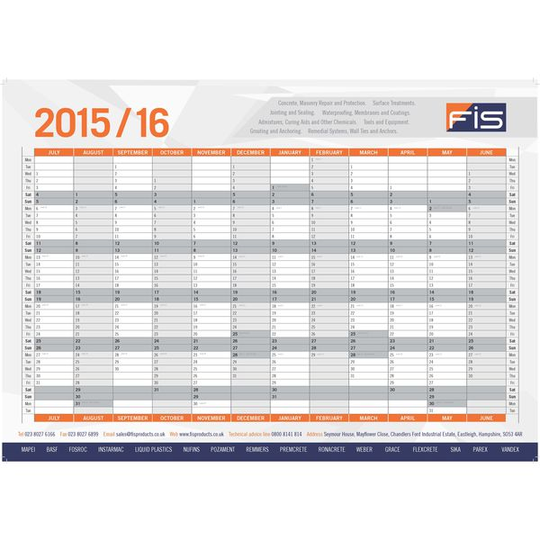 12061: A2 Wall Planner