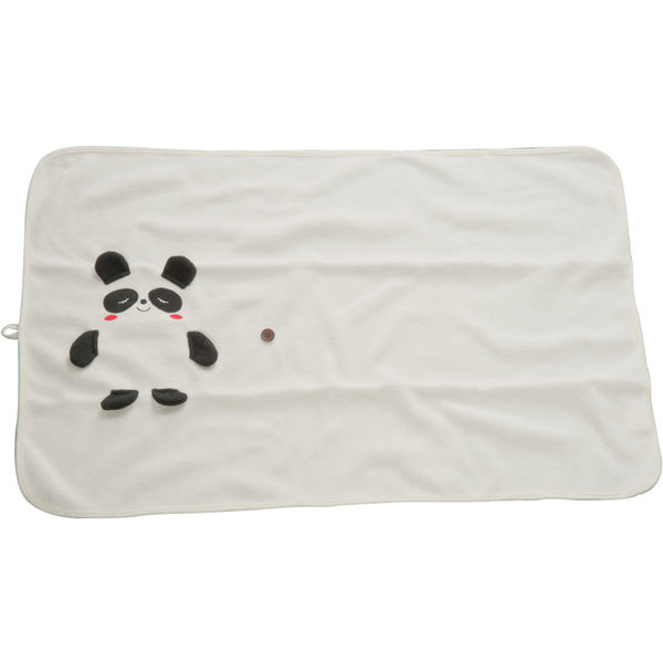 12126: Blanket for kids with panda bear motif