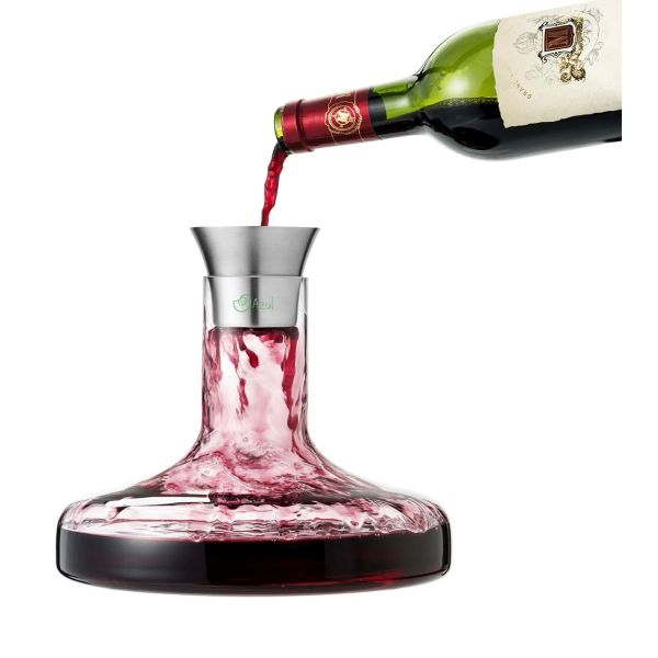 12933: Flow wine decanter set