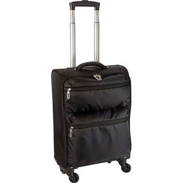 14912: 420 Jacquard light weight trolley with 4 wheels, an aluminium extendable ha