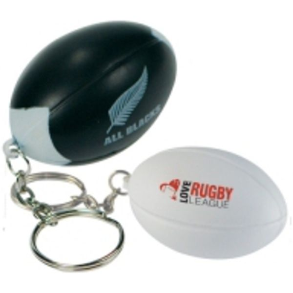 15326: Rugby Stress Ball Keyring