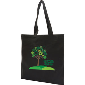 15439: 8oz Black Premium Cotton Canvas Tote Bag