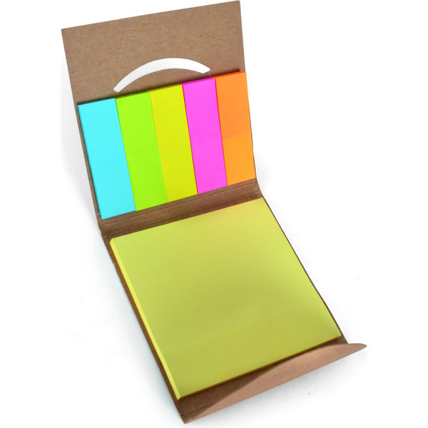 15776: Dunmore Recycled Paper Matchbook Style Sticky Note Holder